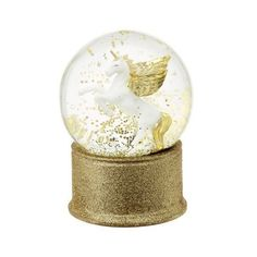 Flying unicorn Christmas snow globe (606.645 VND) ❤ liked on Polyvore featuring home, home decor, holiday decorations, christmas water globes, xmas snow globes, unicorn home decor, christmas snow globes and christmas holiday decor