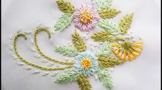 Awesome Most Popular Embroidery Patterns Ideas. Most Popular Embroidery Patterns Ideas. Floral Embroidery Patterns, Hand Embroidery Tutorial, Simple Embroidery, Learn Embroidery, Silk Ribbon Embroidery, Hand Embroidery Designs, Custom Embroidery, Embroidery Stitches, Russian Cross Stitch