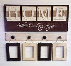 Rustic HOME sign, Home, Where our story begins, Country decor, Wedding shower gift, Housewarming gift by OurLittleCountryShop on Etsy
