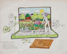 Rare ORIGINAL 1975 SUNSHINE FAMILY DOLL GARDENING GARDEN SET CONCEPT ART Vintage