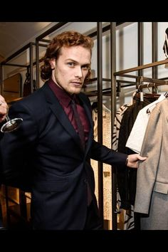 Sam Heughan at Men's NYC Burberry Event