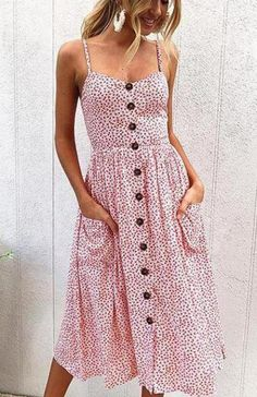 22 Cute Midi Dresses for Spring & Summer 2018