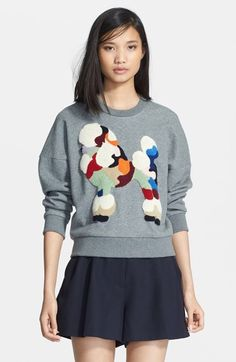 Phillip Lim Poodle Embroidered Crop Sweatshirt | Nordstrom (Way too expensive for $375 but pretty fab, nonetheless.)