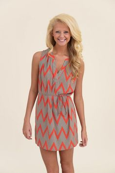 GLAM: An Afternoon With You Tank Dress-Hot Coral