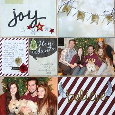 kellyklapstein-pocket page scrapbooking project life Christmas with simple stories
