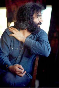 Jerry Garcia, 1971, at Grace Slick & Paul Kantner's house with David Crosby, to work on Crosby's 1971 solo album If Only I Could Remember My Name. Photo by Henry Diltz.