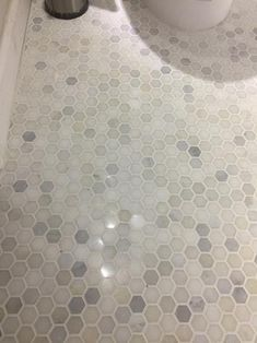 MSI Greecian White Mini Hexagon 12 in. x Polished Marble Mesh-Mounted Mosaic Tile sq. / – The Home Depot – Marble Bathroom Dreams Mosaic Bathroom, Bathroom Floor Tiles, Bathroom Wallpaper, Mosaic Tiles, Small Bathroom, Master Bathrooms, Bathroom Mirrors, Bathroom Cabinets, Marble Mosaic
