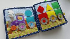 Diy Quiet Books, Felt Books, Quiet Time Activities, Infant Activities, Doll House Play, Sensory Book, Quiet Book Patterns, Travel Toys, Books For Boys