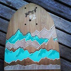 Mes montagnes... #longskateboard #longskate #skate #surfinglife #skatecustom #surf #poscagallery #poscalifecustom #bonappetitski #montagne #arechesbeaufort