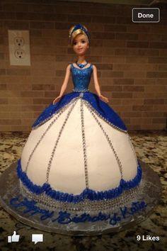 Very pretty doll cake!