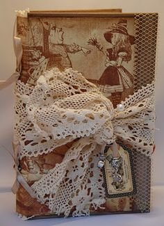 Made by Soraya: Alice in Wonderland Altered Books, Alice In Wonderland, Reusable Tote Bags, Fancy, Rabbit Hole, My Favorite Things, Planners, Journals, Cards
