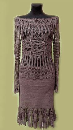 Blouse and Skirt Crochet MADE TO ORDER crochet by AnnaKorszewska, $1500.00