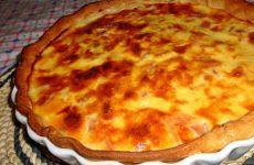 Quiche de fiambre e queijo