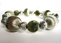 Classic Silver and Labradorite Bracelet by LyndaHayesDesigns