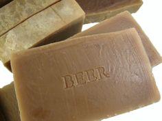 Σαπούνι με μπύρα   Χειροποίητον Beer Soap, Natural Cosmetics, Soap Making, Etsy Handmade, Diy And Crafts, Essential Oils, Candy, Homemade, Chocolate