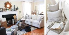 Our living room photographed by Katie Chlad Photography | swankbydesign.com