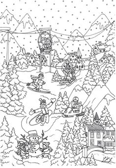 alphorns coloring pages - photo#17