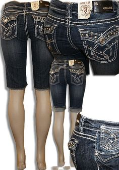 Cowgirl Grace Rhinestone Bermuda Shorts