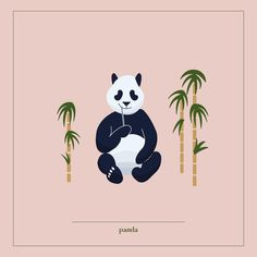 Panda ©Justyna Krug Digital Illustration, Panda, Animation, Illustrations, Projects, Movie Posters, Animals, Art, Log Projects