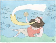 The Wave Maker // Seaman // Large Print A3 by joanarosab on Etsy, €30.00