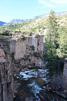 Shell Falls in the Bighorn National Forest, Wyoming