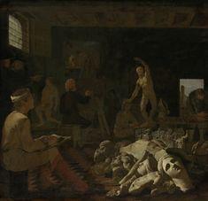 Michiel Sweerts (1618–1664), Een schildersatelier, 1646-1650, oil on canvas, 71 x 74 cm, Rijksmuseum Amsterdam