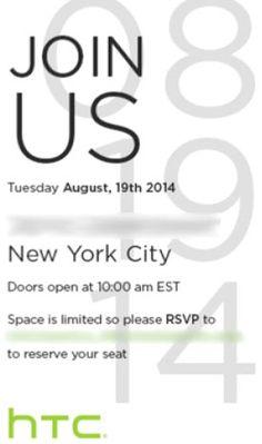 HTC 將於 8月19日舉行發佈會,介紹 Windows 版 HTC One M8?