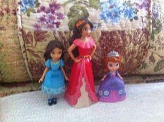 Princesses, Isabel Elena And Sofia Figurines