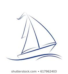 Similar Images, Stock Photos & Vectors of sailing boat drawing with coloring and grayscale version. Sailboat Drawing, Boat Silhouette, Oil Painting Trees, Boat Illustration, Chalkboard Decor, Boat Art, Modeling Tips, Sailing Boat, Sailboats