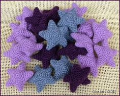 Cute little crocheted starfish!  :-)