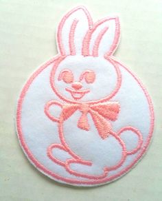 Baby Patch Bunny Pink Circle Iron On Applique Embroidered Cute Sew Pcs Badge Patches Craft Girl Mix Appliques 5 4 Infant Diy Garment Sewing 2 New Jacket Patches Emblem Upick Nation Trim X3 Standard Logo Motif Appliques Cloth Embroidery Trim Embellished Embellishments Embroider Embellish Style Colorful Added Addition *** See this great item.