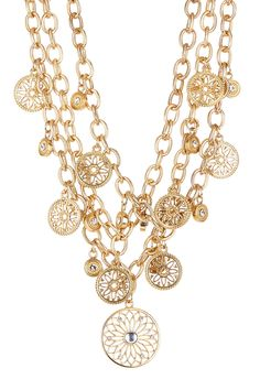 Gold Multi-Chain Link Bib Necklace on HauteLook