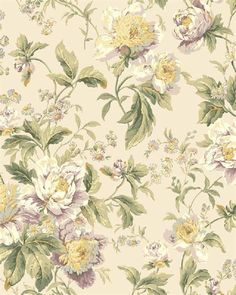 WA7807 | Waverly Classics, Purple and Tan Forever Yours Floral Wallpaper | TotalWallcovering.Com