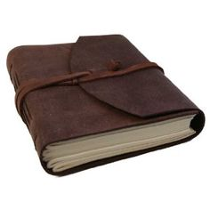 classic leather journal refillable handmade with strap pen loop