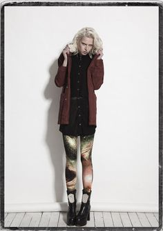 Evil Twin - Edge Of Reason Anorak, Intuition Mesh Tunic Shirt, Outer LImits Waisted Leggings