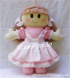 Boneca rosa com branco