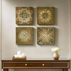 Madison Park Bella Blue Tiles Deco Box 4 Piece Set in Multi - Olliix a captivating element in your space with Madison Park, Bella Blue Tiles 4 Piece wall decor. Incorporating a natural color palette with shades of blue, these deco boxes a Damask Wall, Nature Color Palette, Geometric Wall Art, Blue Tiles, Home Wall Decor, Wall Art Sets, Wall Plaques, Box Art, Wall Tiles