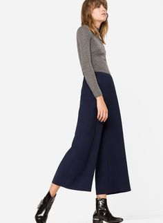 Flowing culottes - Culottes - Trousers - Ready to wear - Uterqüe Spain