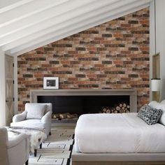 A-Street Prints Reclaimed Bricks Rustic Wallpaper - 2701-22300