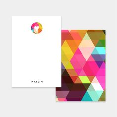Personalized Stationery by Up Up Creative via PaperCrave