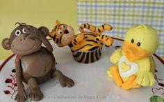 "Monkey, Tiger,& Duck cupcakes on ""Make me my Cake"""