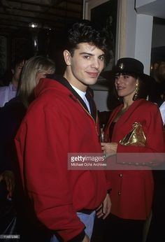 Jordan Knight of New Kids On The Block at Spago's, Los Angeles, California, circa 1990.