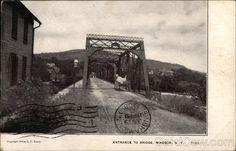 Divided Back Postcard Entrance to Bridge Windsor, NY Windsor, Entrance, Bridge, Spaces, Painting, Entryway, Painting Art, Bridges, Bro