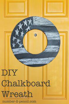 chalkboard wreath