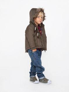 Ciepła kurtka chłopięca, z kapturem i futerkiem Happy Kids, #dzieci