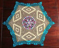 Crochet Doily - Hexagon Crochet Doily - Table decor - Coffee table decor - Vintage style - Heirloom table centerpiece - Home decor gift by ElenisCrochet on Etsy