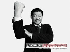 Print Xi Jinping for Reporters Sans Frontières by BETC Paris - In celebration of the Freedom of Press Day, the agency decided to launch a campaign to call. Video Advertising, Advertising Campaign, Advertising Ideas, Reporters Sans Frontières, Freedom Day, Ad Of The World, Concours Photo, Without Borders, World Press