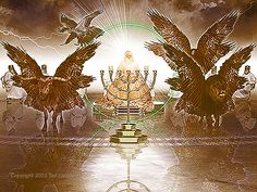 Revelation 4 & 5 - God's Throne in Heaven - Lamb Worthy to open 7 Seals Revelation Bible Study, Revelation 4, Angel Hierarchy, The Seventh Seal, 12 Tribes Of Israel, Prophetic Art, Bible Prayers, Creatures, God