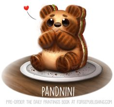 Daily Painting Cucumbear by Cryptid-Creations on DeviantArt Cute Food Drawings, Cute Animal Drawings, Kawaii Drawings, Animal Puns, Animal Food, Images Kawaii, Dibujos Cute, Cute Chibi, Kawaii Art