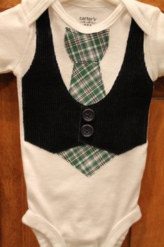 Adorable vest and tie onesie